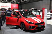 LEIPZIG, GERMANY - JUNE 1: New KIA ceed GT at the AMI - Auto Mobile International Trade Fair on June 1st, 2014 in Leipzig, Saxony, Germany — Foto Stock