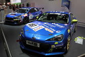 LEIPZIG, GERMANY - JUNE 1: Subaru BRZ Racing Car at the AMI - Auto Mobile International Trade Fair on June 1st, 2014 in Leipzig, Saxony, Germany — Foto Stock
