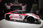 LEIPZIG, GERMANY - JUNE 1: Nissan GT3 Nismo Racing Car at the AMI - Auto Mobile International Trade Fair on June 1st, 2014 in Leipzig, Saxony, Germany — Foto Stock