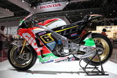 LEIPZIG, GERMANY - JUNE 1: Honda Racing Motorcycle at the AMI - Auto Mobile International Trade Fair on June 1st, 2014 in Leipzig, Saxony, Germany — Stock Photo