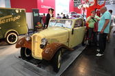 Restored Auto Union Car at the AMI - Auto Mobile International Trade Fair on June 1st, 2014 in Leipzig, Saxony, Germany — Stock Photo