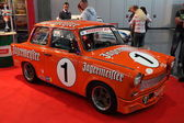 Trabant RS Cup racing car at the AMI - Auto Mobile International Trade Fair on June 1st, 2014 in Leipzig, Saxony, Germany — Foto Stock