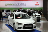 Mitsubishi Lancer Sportback at the AMI - Auto Mobile International Trade Fair on June 1st, 2014 in Leipzig, Saxony, Germany — Foto Stock