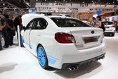 Subaru WRX STI at the AMI - Auto Mobile International Trade Fair on June 1st, 2014 in Leipzig, Saxony, Germany — Foto Stock