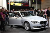 BMW 740d xDrive at the AMI - Auto Mobile International Trade Fair on June 1st, 2014 in Leipzig, Saxony, Germany — Stock Photo
