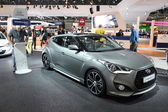 Hyundai Veloster Turbo at the AMI - Auto Mobile International Trade Fair on June 1st, 2014 in Leipzig, Saxony, Germany — Stock Photo