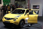 Nissan Juke at the AMI - Auto Mobile International Trade Fair on June 1st, 2014 in Leipzig, Saxony, Germany — Stock Photo