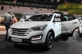 Hyundai SantaFe SUV at the AMI - Auto Mobile International Trade Fair on June 1st, 2014 in Leipzig, Saxony, Germany — Stock Photo
