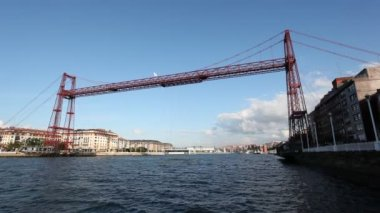 Vizcaya Bridge or Puente Colgante in Bilbao, Spain — Vídeo de stock