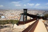 Utsikt över den gamla staden aguilas, provinsen murcia, spanien — Stockfoto