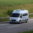 Small motor home on the highway in Germany — Stock Photo #49476261