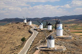 Traditional spanish windmills in Castilla-La Mancha, Spain — Stock Photo