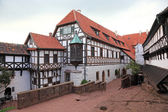 Half timbered house at the Wartburg Castle in Thuringia, Germany — Stock Photo