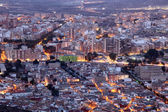 City of Cartagena illuminated at night. Region of Murcia, Spain — Stock Photo