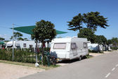 Caravan on a camping site in southern Spain — Stock Photo