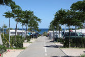 Camping site at the mediterranean coast in southern Spain — Stock Photo