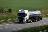Fuel truck on the highway in Germany — Stock Photo