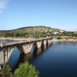 Bridge over the Burguillo Reservoir in Iruelas Valley Natural Reserve, Avila, province Castilla y Leon, Spain — Stock Photo #49783427