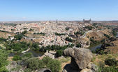 View over the old town of Toledo, Castilla-La Mancha, Spain — Stock Photo
