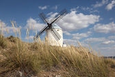 Traditional spanish windmill in Castilla-La Mancha, Spain — Stock Photo
