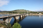 Bridge over the Burguillo Reservoir in Iruelas Valley Natural Reserve, Avila, province Castilla y Leon, Spain — Stock Photo