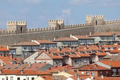 Medieval city walls and houses in the old town of Avila, Castilla y Leon, Spain — Stock Photo