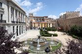 Square in the old town of Avila, Castilla y Leon, Spain — Stock Photo