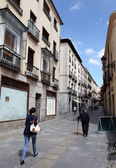 Narrow street in the old town of Avila, Castilla y Leon, Spain — Stock Photo