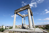 Los cuatro postes (the four poles) monument in  Avila, Castile and Leon, Spain — Stock Photo