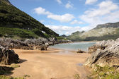 Beautiful sandy beach near Islares, Cantabria, Spain — Stock Photo