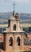 Stork nest on top of a belltower in Avila, Castilla y Leon, Spain — Stock Photo