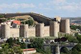 średniowieczne mury z avila, castilla y leon, hiszpania — Zdjęcie stockowe