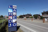 Sign of the spanish town Laredo in Cantabria, Spain — Stock Photo