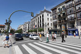 Crosswalk in the city of Santander, Cantabria, Spain — Stock Photo