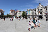 People on the Promenade in Santander, Cantabria, Spain — Stock Photo
