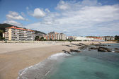 Playa de Ostende beach in town Castro Urdiales. Cantabria, Spain — Stock Photo