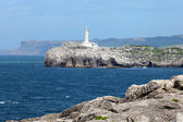 Lighthouse at the Mouro Island in Santander, Cantabria, Spain — Stock Photo