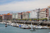 Marina in the city of Santander, Cantabria, Spain — Stock Photo