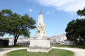 Monument to the sailors and soldiers died 1870 in La Rochelle, France — Stock Photo