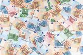 Twenty, fifty and one hundred Euro banknotes background — Stock Photo
