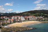 Beach in Castro Urdiales, Cantabria, Spain — Stock Photo
