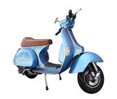Classic scooter isolated on a white background — Stock Photo