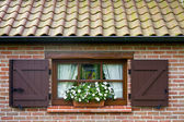 Window of a typical flemish house — Foto Stock