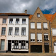 Old city architecture, Brugge. - Stock Photo