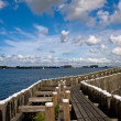 View to the pier in Veere, the Netherlands - Stock Photo