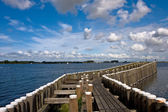 View to the pier in Veere, the Netherlands — Stock Photo