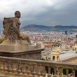 View to Barcelona from Museu nacional d Art de Catalunya — Stock Photo