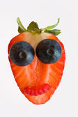 Funny fruit face — Foto Stock