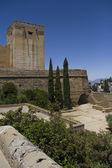 Architecture in Alhambra, Granada, Spain. — Stockfoto