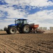 Sowing, tractor — Stock Photo